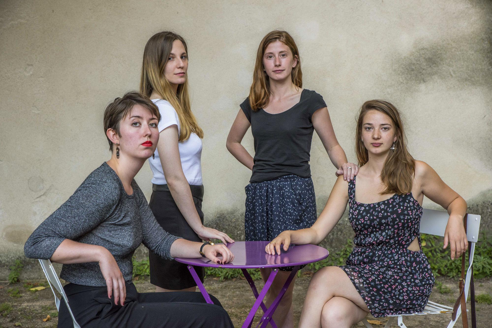 Lucille, Séverine, Lola, Mathilde
