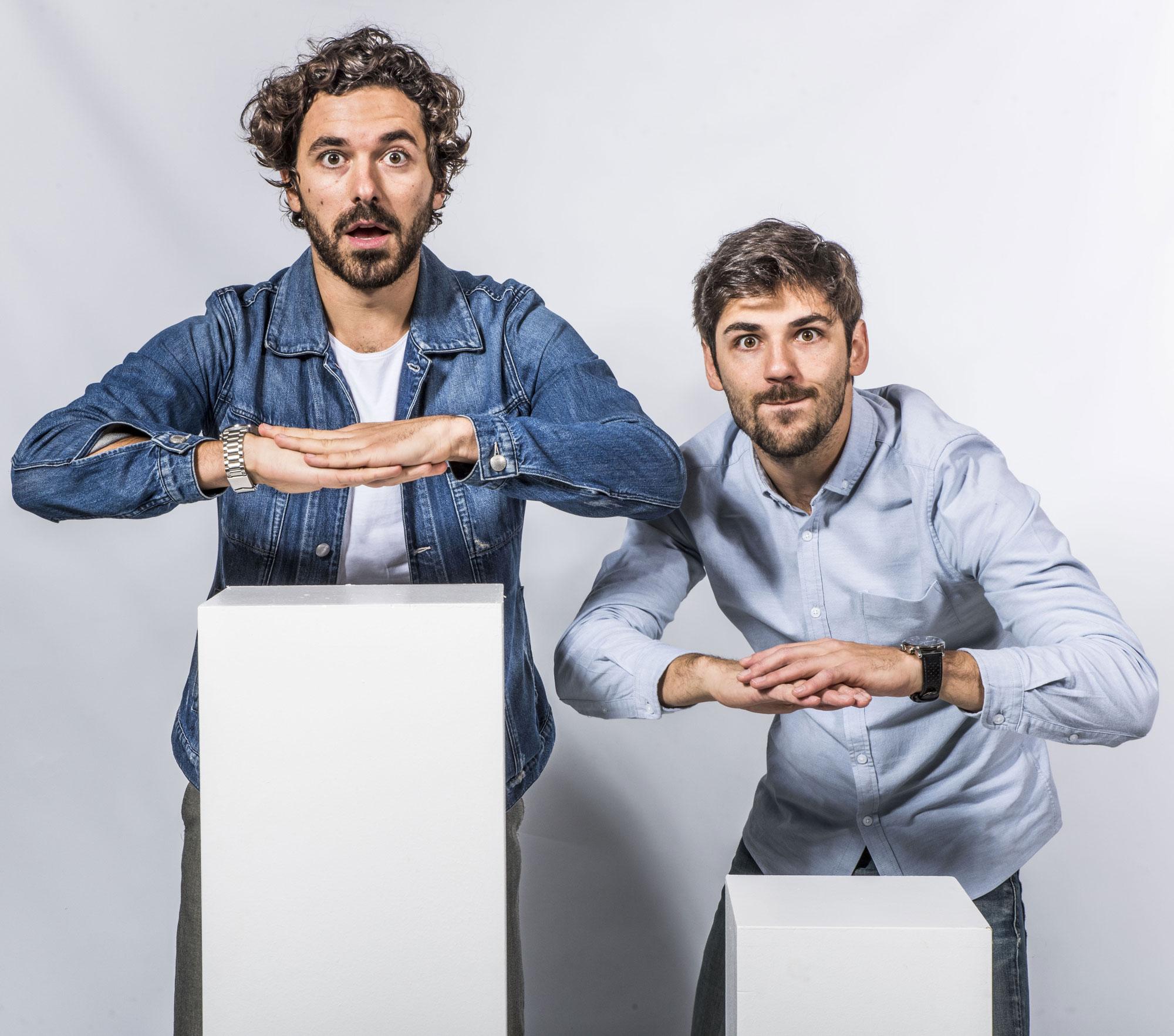 Amaury et Quentin du collectif Golden Moustache