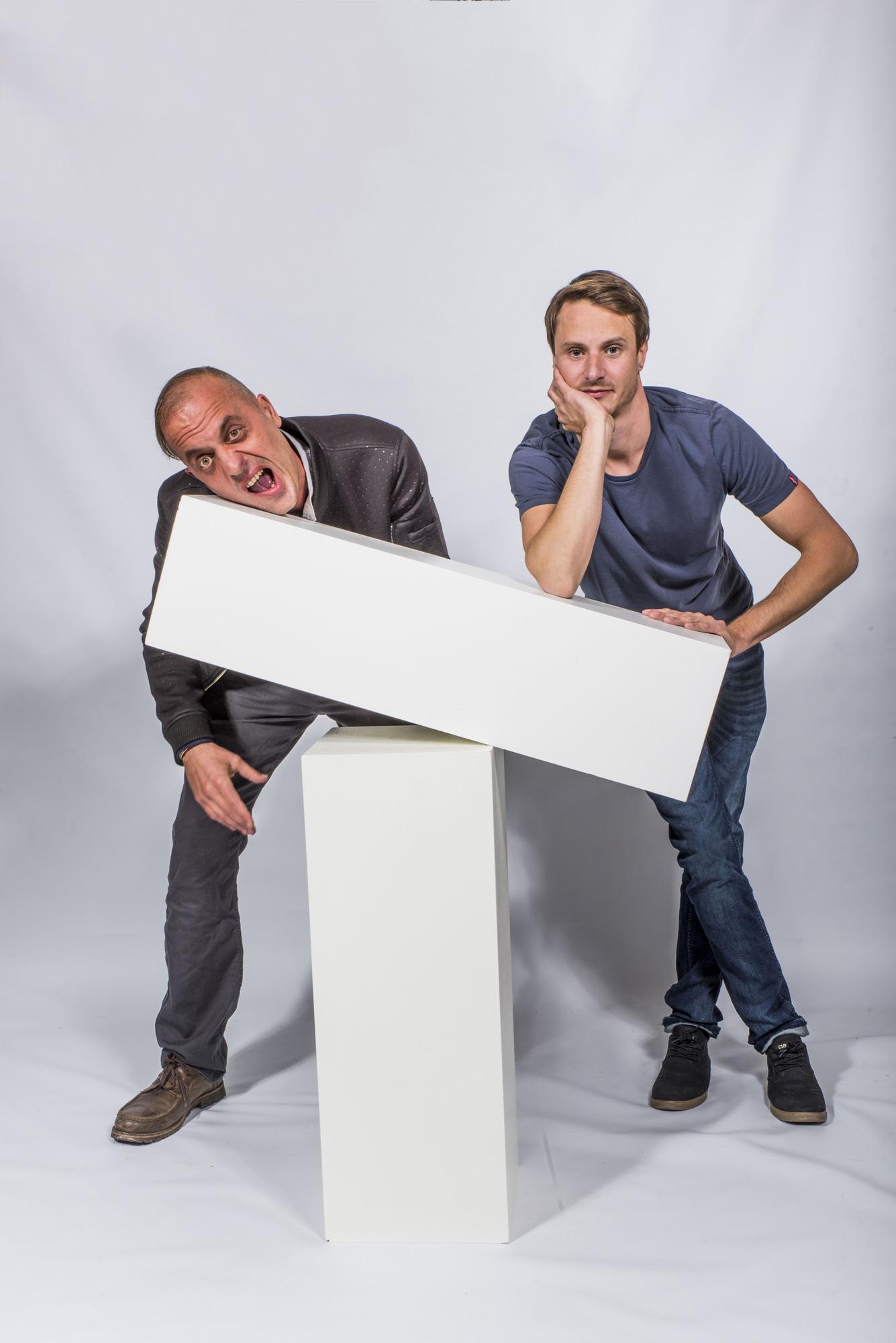 Alexandre Massonnet et Erwan Alépée. Acteur et réalisateur.